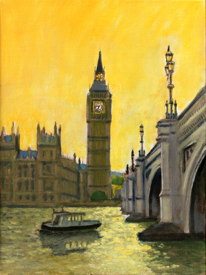 Title: Big Ben , Size: 16x12 , Medium: Oil on Linen Board , Price: $600