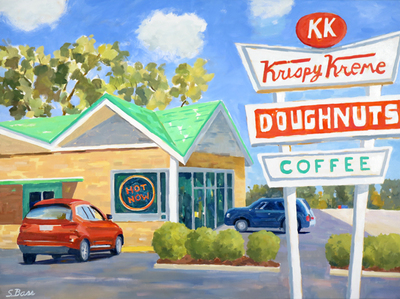 Title: Krispy Kreme, Raleigh , Size: 30x40 , Medium: Oil on Canvas , Price: $2,500