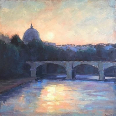 Title: Light on Firenze , Size: 40x40 , Medium: Oil on Canvas , Price: $3,300
