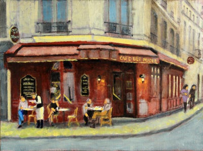 Title: Café Des Musee , Size: 12x16 , Medium: Oil on Linen , Price: $600