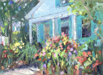 Title: More Blooming in Beaufort , Size: 9x12 , Medium: Oil on Canvas , Price: $550
