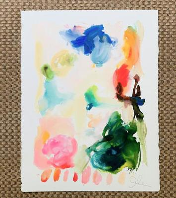 Title: Large Summer Fauve No. 13 , Size: 30x22 , Medium: Watercolor & Acrylic on Paper , Price: $540