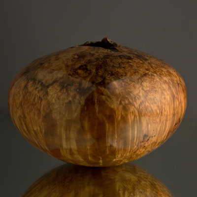 Title: Ultra Gloss Spalted Maple Burl Hollow #421 , Size: 5 1/2 x 7 1/4 , Medium: Maple Wood , Price: $640