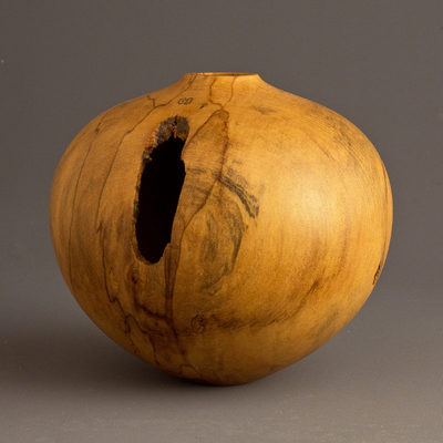 Title: Small Drane Voided Magnolia Hollow #516 , Size: 3 1/4 x 4 , Medium: Magnolia Wood , Price: $120