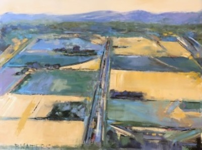 Title: Aerial Perspectives: Seasons-Spring , Size: 36x48 , Medium: Oil on Canvas , Price: $2,600