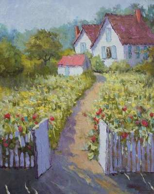 Connie Winters - Back Garden in Late Day