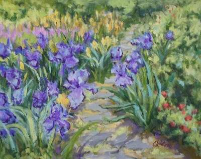 Title: Iris In The Blue , Size: 16x20 , Medium: Oil on Canvas , Price: $1,400