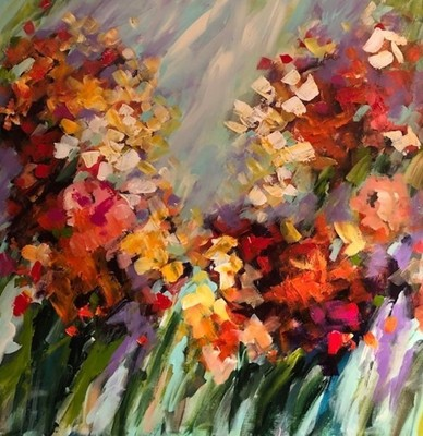Title: Wildflowers of Fall , Size: 36x36 , Medium: Mixed Media , Price: $1,650