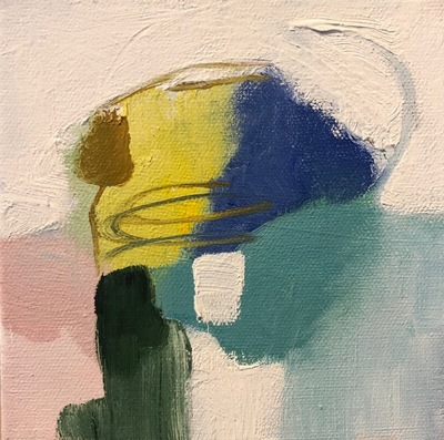 Title: Blue Bell , Size: 6x6 , Medium: Oil on Canvas , Price: $95
