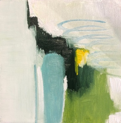 Title: Round It Goes , Size: 6x6 , Medium: Oil on Board , Price: $125