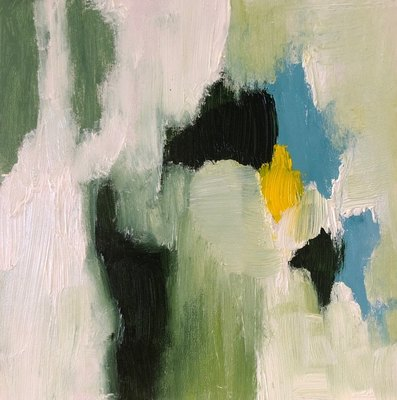 Title: Round It Goes III , Size: 6x6 , Medium: Oil on Board , Price: $125