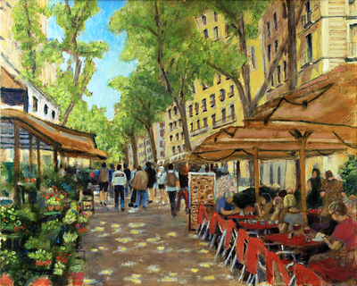 Title: Barcelona , Size: 16x20 , Medium: Oil on Canvas , Price: $850