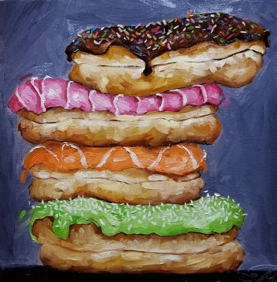 Title: Sweet Things , Size: 12x12 , Medium: Oil on Canvas , Price: $600