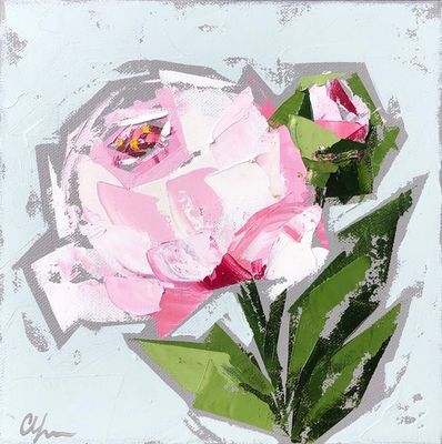 Title: Peonies No. 13 , Size: 8x8 , Medium: Oil on Canvas , Price: $250