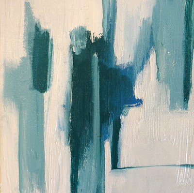Title: Blue Palette II , Size: 6x6 , Medium: Oil on Canvas , Price: $95