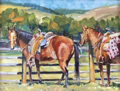 Title: Saddle Up , Size: 11x14 , Medium: Oil on Canvas , Price: $750