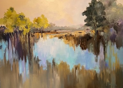 Becky Denmark - Shadow Lake - Oil on Canvas - 36x48