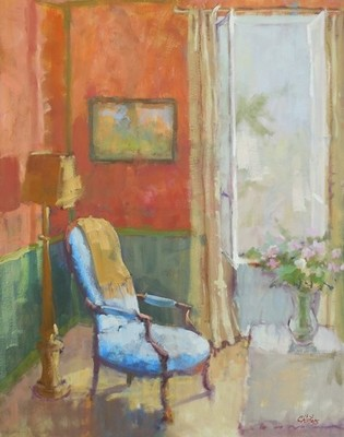 Connie Winters - Blue Chair by the Window