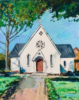 Larry Dean - St Mary's Chapel - Oil on Canvas - 20x16