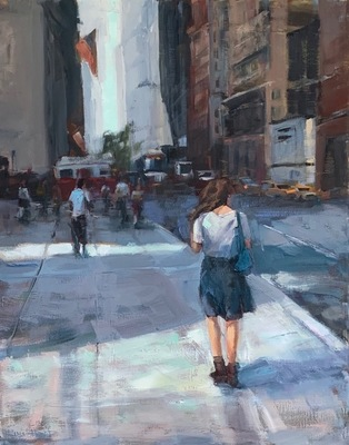 Susan Hecht - Next Avenue - Oil on Canvas - 20x16