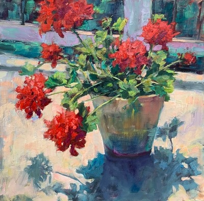 Susan Hecht - Summer at Mom's - Oil on Canvas - 30x30
