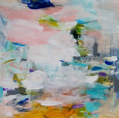 Charlotte Foust - Summer Crush - Acrylic on Paper - 21x21