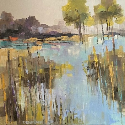 Becky Denmark - Morning Marsh - Oil on Canvas - 12x12