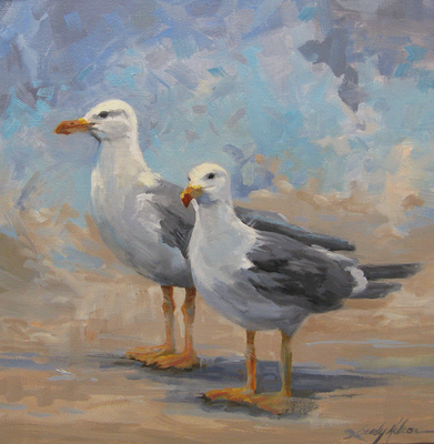 Sandy Nelson - Strollin' - Oil on Canvas - 12x12