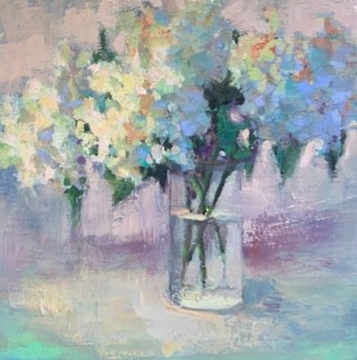 Susan Hecht - Poetic Hues - Oil on Canvas - 12x12