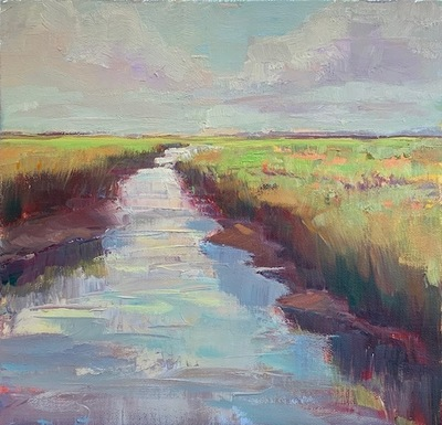 Susan Hecht - Follow Your Path - Oil on Canvas - 12x12