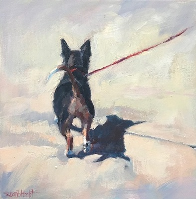 Susan Hecht - Prancing - Oil on Canvas - 12x12