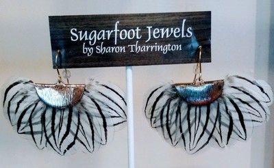 Sugarfoot Jewels - Feather Earrings White - Jewelry