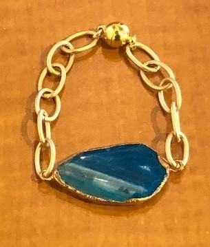 Sugarfoot Jewels - Blue Agate Bracelet - Jewelry