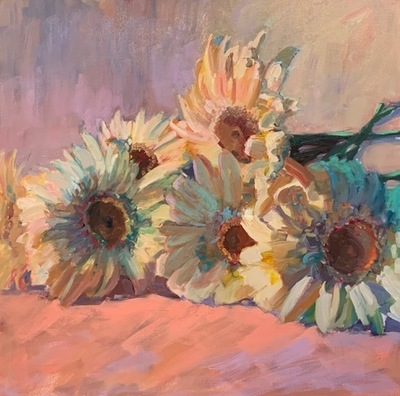 Susan Hecht - Daisy Love - Oil on Canvas - 30x30