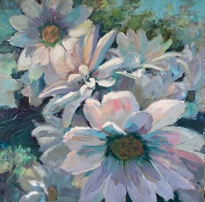 Susan Hecht - A Nod To Summer - Oil on Canvas - 30x30